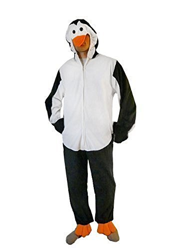Homemade Costumes Halloween Adult (Fantasy World Penguin Costume Halloween f. Men and Women, Size: XL/ 16-18, J35)