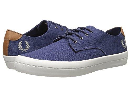 Carbon 266 Savitt Scarpe Canvas B6225 Fred Printed Uomo Perry Blu Blue Tennis Sneaker Polacchine wWUUxta