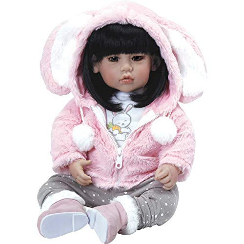 """Adora Toddler """"Cottontail"""" Doll 20"""" Girl Weighted Doll Gift Set for Children 6 Huggable Vinyl Cuddly Snuggle Soft Body Toy"""
