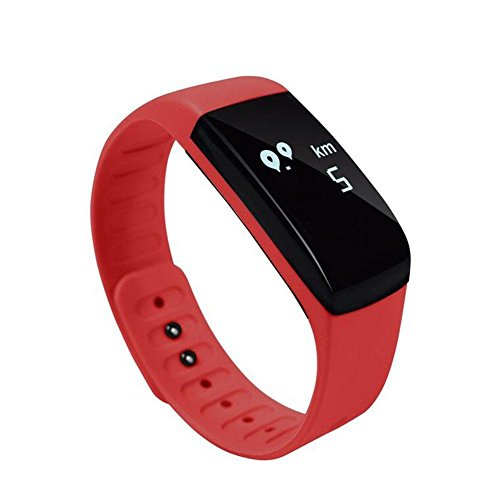 DACHUI Tracker Fitness Bluetooth Smart Sports Armband Pedometer Customs 0.66 OLED screen real-time heart rate monitor/Sleep Information Waterproof push for Android Ios by DACHUI