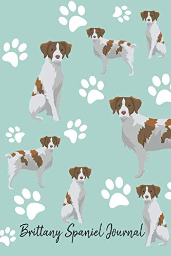 Brittany Spaniel Journal: Cute Dog Breed Journal Lined Paper (Dog Journals)