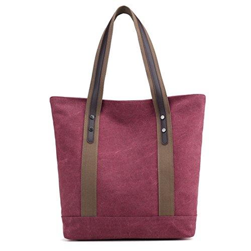Women Canvas HandBag Casual Tote Shoulder Bag