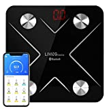 LIVINGbasicsTM Bluetooth Body Fat Scale, Smart Wireless Digital Bathroom Weight Scale with iOS