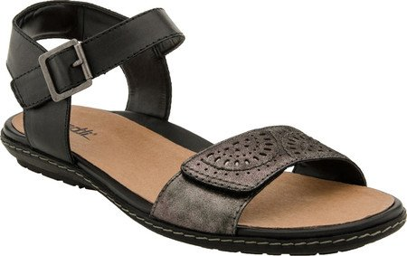 Earth Women's Star Flat Sandal,Pewter Distressed Leather,US 7 M ()