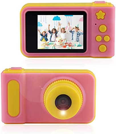 ARTITAN Kids Camera Toys Gifts for 4~8 Years Old,Shockproof Cameras Great Gift Mini Child Camcorder for Little Child with Soft Silicone Shell for Outdoor Play (Pink)