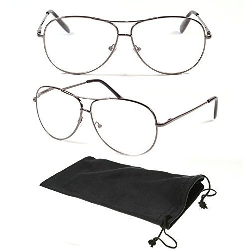 Large Metal Classic Aviator Spring Hinged Oval Men Women Reading Glasses Reader - Wire Thin Rim Glasses