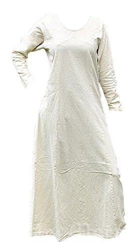 LARP Rebecca Mittelalterkleid Wikingerkleid 3XL Maxi Mittelalter aus Natur Braun Baumwolle Kleid Naturfarben Einfaches S oder 1XBn4