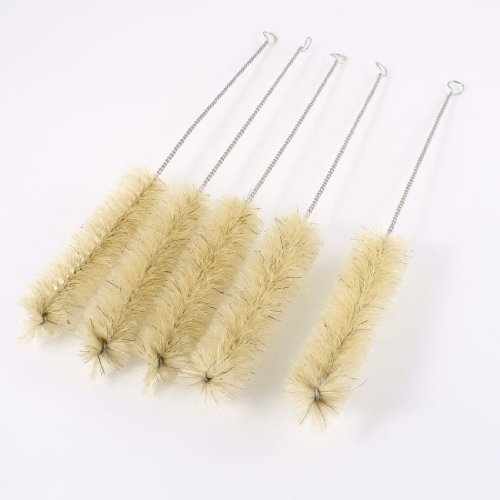 uxcell 5 Pcs 10.8 inches Length Chemistry Test Tube Bottle Wash Cleaning Brush