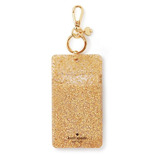 Kate Spade New York Id Badge Clip Key Chain, Gold Glitter