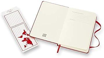 Moleskine 944377 - Cuaderno de tapa dura, liso, bolsillo, rojo