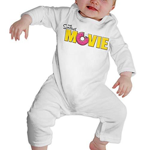 RLAZANAA Sim-p-Son Movie Long Sleeve Baby Onesie Bodysuits (12M) -