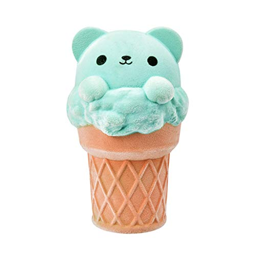 NXDA Kids Toys Mini Cute ice Cream Rebound Fruit Taste Bear Super Slow Rise Adult Children Decompression Toys (Blue) from NXDA