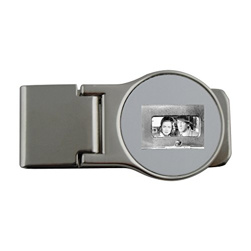 Metal money clip with Jimmy Stewart and Donna Reed in the movie It's A Wonderful Life