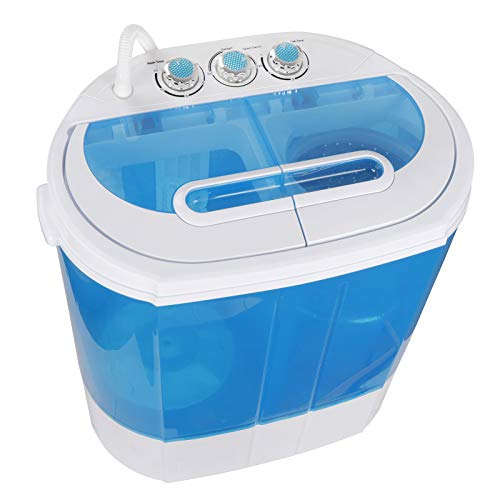 SUPER DEAL Portable Washing Machine Twin Tub 10lbs Capacity with Spin Cycle Dryer, Lightweight for Apartments, Dorm Rooms
