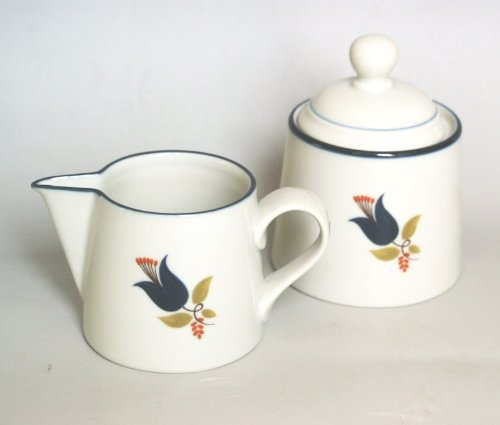 - Nordic š Modern Living š blue Blue Line Tulip Sugar pot u0026 Creamer