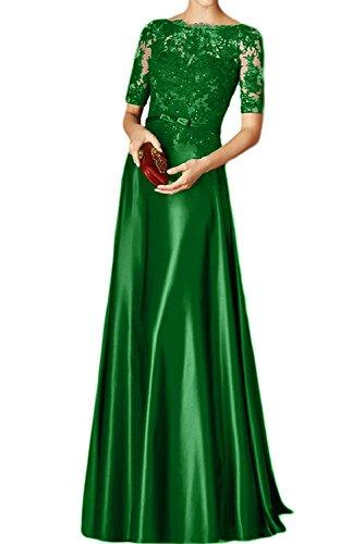 Toscana novia Rueckenfrei por la noche de sueño durante la gasa Ranura de fiesta a bola vestidos Verde