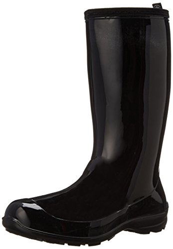 (Kamik Women's Heidi Rain Boot,Black/Noir,10 M US)