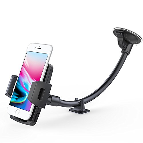 Cuxwill Car Phone Mount Winshield Long Arm with Stabilizer C