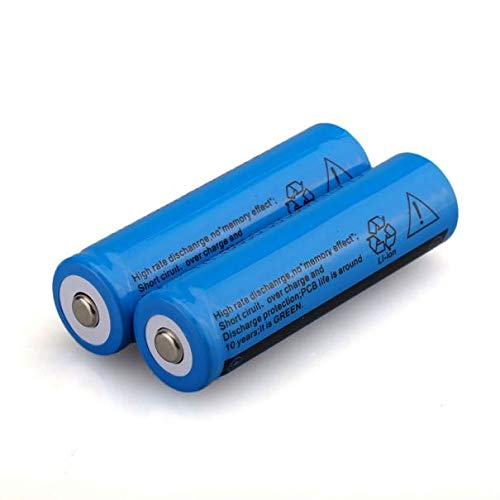 18650 Rechargeable Battery(2-Pack) - 18650 3000mAh 3.7v Li-ion BRC Rechargeable Battery for Led Flashlight Rechargeable - Pre-charged