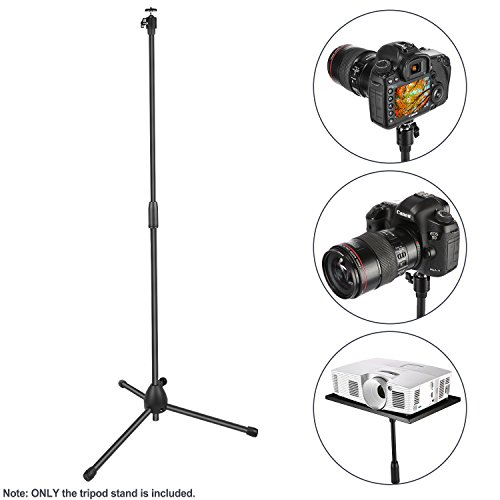 Neewer Projector Tripod Stand, Floor Stand, Adjustable 30.7-48.8 inches for Projector Tray Holder, Speaker Box Rack, Digital Cameras Camcorders SLRs with 1/4 inches Screw Hole (Stand Only)