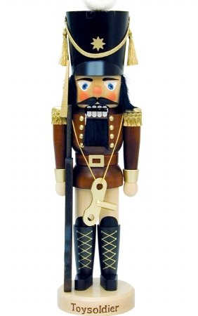 32-336 - Christian Ulbricht Mini Nutcracker - Toy Soldier Limited Edition 5000 - 18''''H x 5.25''''W x 4.5''''D by Alexander Taron Importer