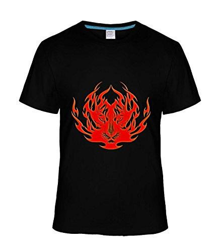 Ta Dey Cool Burning Flame Tiger Tees for Man XXXL black