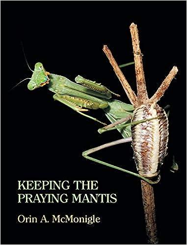 Keeping The Praying Mantis Mantodean Captive Biology Reproduction And Husbandry Amazon Co Uk Mcmonigle Orin 9781616461669 Books
