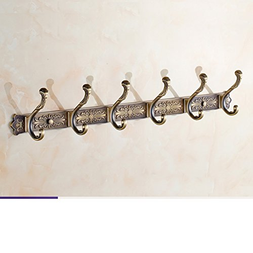 80%OFF European-style clothes hooks/ antique rows of hooks/Wall hanging hooks/Door hangers/ bathroom clothes hook-J