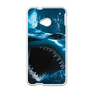 Scary Shark Custom Protective Hard Phone Cae For HTC One M7