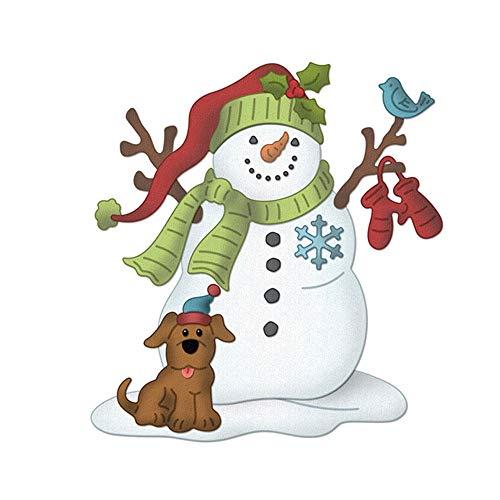 Blue Stones Christmas Snowman Metal Dies Scrapbooking Metal Cutting Dies 2018 Craft Stamps die Cut Embossing Card Make Stencil Frame
