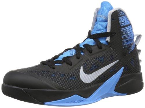Nike Mens Zoom Hyperfuse 2013 Basketball Shoe-Black/Wolf Grey-Vivid Blue-13