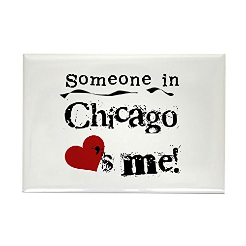 CafePress Chicago Loves Me Rectangle Magnet Rectangle Magnet, 2