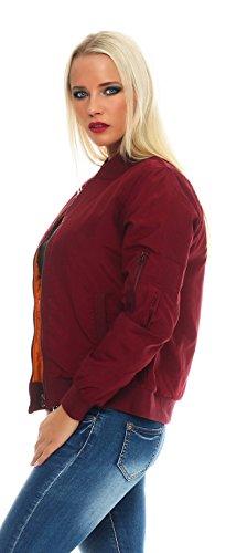 Chaqueta mujer CBKTTRADE Borgoña Bomber para Jacket Axfx7BwqFd