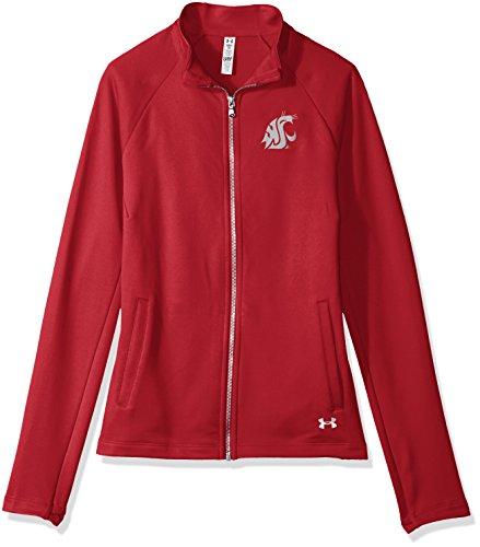 Under Armour NCAA Washington State Cougars Women's Terry Full-Zip Jacket, Medium, Crimson