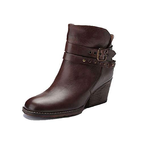 Mode Chaussures Polyvalent pour Martin Hauts Kaki Bottes Femmes Confortables Talons ZPEDY CfnXpqwp