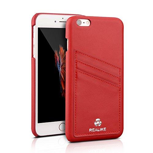 REALIKE slim card holder Premium Genuine leather case for iPhone 6 plus/6s plus 5.5