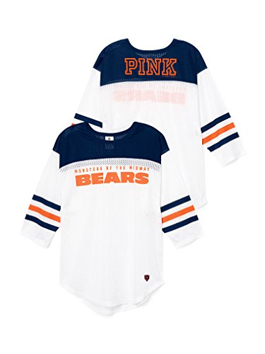 Victoria's Secret Pink Chicago Bears T-Shirt Small (Pink Chicago Bears Shirt)