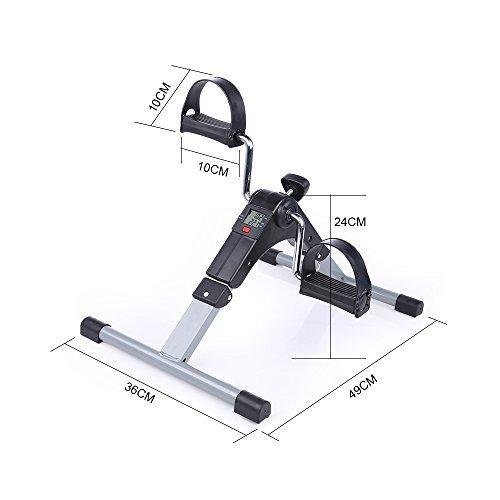 Folding Pedal Exerciser, AGM Medical Digital Under Desk Bike Foot Cycle Arm & Leg Peddler Machine by AGM (Image #3)