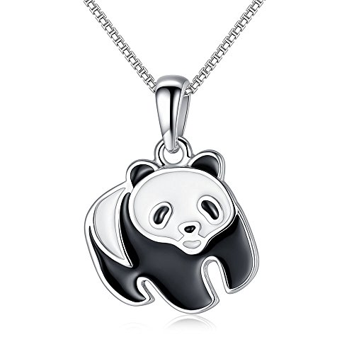 FOREWE 925 Sterling Silver Rare Animals Panda Special Pendant Necklace With Box Chain (Rare China Special)