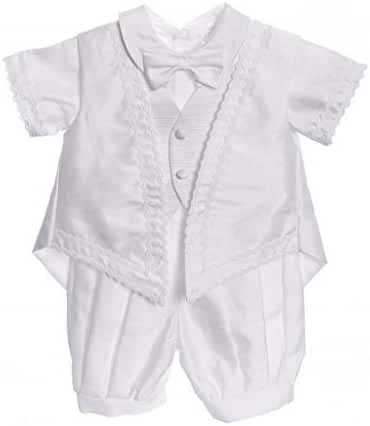 Baby Boy White Classic 5PC Christening Outfit By Caldore USA