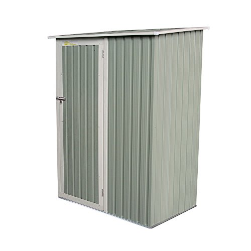 Palm Springs Metal Galvanized Steel Backyard Garden Storage Shed - 4'5