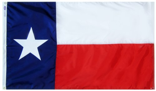 Annin Flagmakers Model 145260 Texas State Flag 3×5 ft. Nylon SolarGuard Nyl-Glo 100% Made in USA to Official State Design Specifications. Review