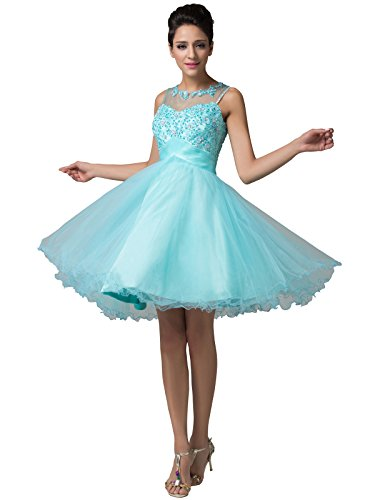 light blue dress prom - 4