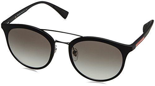 Prada Sport PS04RS DG00A7 Matte Black PS04RS Round Sunglasses Lens Category 2 - Black Sunglasses Prada Matte