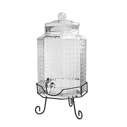 Style Setter 210879-GB Charleston Octagonal Beverage Dispenser with Stand, (Octagonal Beverage Dispenser)