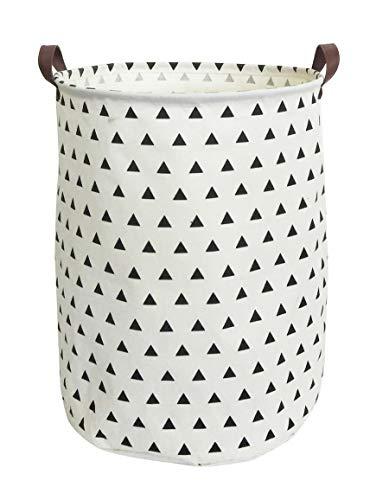 ESSME Large Laundry Hamper Waterproof Coating Canvas Fabric Storage Basket-Toy Organizer, Baby Nursery Hamper19.7×15.7'' (Triangle) by ESSME