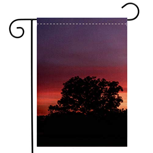 BEIVIVI Creative Home Garden Flag Colorful Purple Sunset Skyscape Garden Flag Waterproof for Party Holiday Home Garden Decor