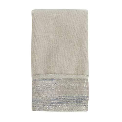 Croscill Darian Bath Fingertip Towel, 11x18, Taupe (Shower Curtain Jacquard Croscill)