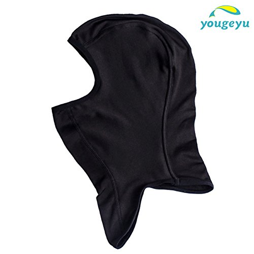 Yougeyu Balaclava Ski Face Mask Multifunction Windproof Breathable High Elasticity Face Mask for Skiing Snowboarding Cycling and Outdoor Sports Black XL (Crazy Masks For Sale)