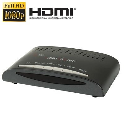 CAOMING RCA Composite Video & S-Video to HDMI Converter, Support Full HD 1080P by CAOMING